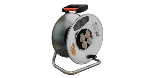 brennenstuhl stahl kabeltrommel ohne kabel trommel 290 mm 4 schutzkontakt steckdosen. Black Bedroom Furniture Sets. Home Design Ideas